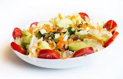 Dish of fresh mix salad Stock Photos