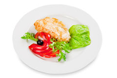 Dish, fried chicken fillet Royalty Free Stock Photos