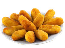 Dish with fried croquettes Stock Photography