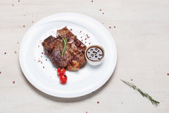 Dish of fried meat steak Royalty Free Stock Photography