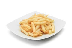 Dish with fried potatoes Stock Images