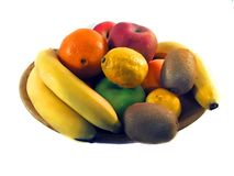 Dish of fruit Royalty Free Stock Photography