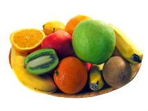 Dish of fruit Royalty Free Stock Images