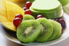Dish of fruit Stock Photography