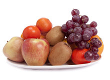 A dish of fruits stock photography