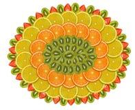 Dish of fruits Stock Photos