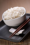 Dish full of plain rice Stock Photos