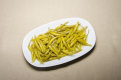 Dish, Green Bean, Vegetarian Food, French Fries stock image