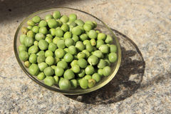 Dish of Green Peas Royalty Free Stock Image