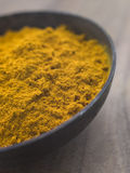 Dish of Ground Dried Turmeric Stock Images