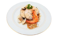 Dish of hake Royalty Free Stock Photos