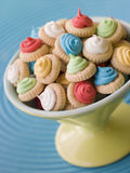 Dish of Iced Gem Biscuits royalty free stock image
