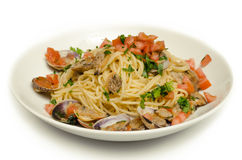 Spaghetti with clams Stock Photo