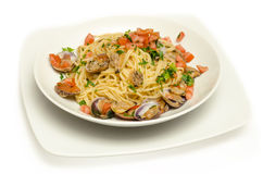 Spaghetti with clams Royalty Free Stock Photos