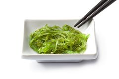 Dish with Japanese seaweed salad Royalty Free Stock Photography