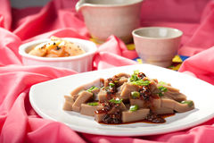 Dish of Korean mook. Royalty Free Stock Images