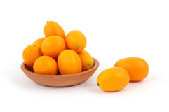Dish Kumquats Plus Two Royalty Free Stock Photos