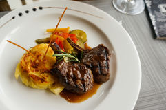 A dish of lamb steak. Stock Photography