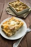 Lasagna with artichokes Royalty Free Stock Photo