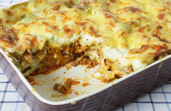 Dish of lasagne Royalty Free Stock Images