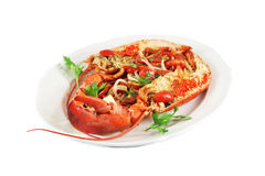 Dish with lobster Royalty Free Stock Photography