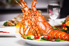 Dish of lobster roasted Stock Images