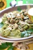 Dish with macaroni Stock Image