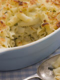 Dish of Macaroni Cheese royalty free stock photography