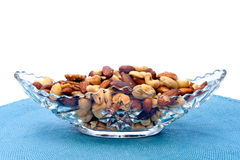 Dish of mixed nuts Royalty Free Stock Photos