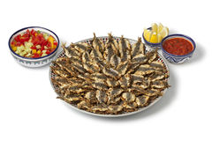 Dish with Moroccan fried stuffed sardines Stock Photo