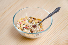 Dish with muesli Stock Photography