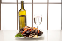 Dish of mussel Royalty Free Stock Image