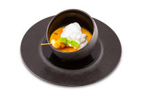 Dish from mussels and a scallop. Stock Images