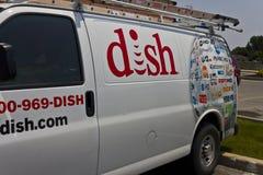 DISH Network Company车 盘是美国卫星服务提供者我 免版税库存图片