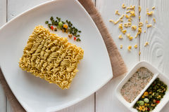 Dish with noodles and spices Royalty Free Stock Photos