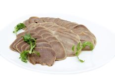 Dish Of Beef Tongue Stock Images