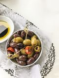 Dish of olives royalty free stock photography