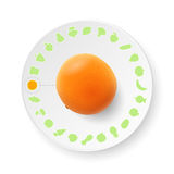 Dish with orange Royalty Free Stock Photos