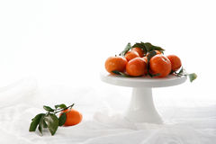 A dish of oranges Stock Photo