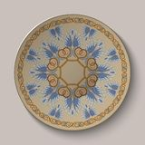 Dish with an ornament in the ancient Greek style Stock Photo