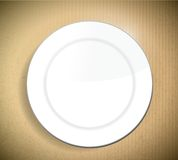 Dish over a cardboard background illustration Stock Photo