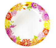 Dish painting flower pattern Stock Photography