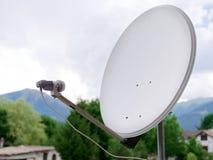 Dish parabolic antenna. On the balcony Royalty Free Stock Images