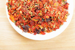 Dish part with spice mixture for rice courses Stock Photo