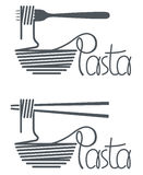 Dish of pasta design Royalty Free Stock Photo