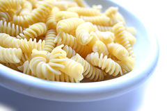 Dish of pasta fusilli on the l Royalty Free Stock Images