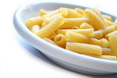 Dish of pasta maccheroni rigat Royalty Free Stock Photography