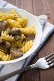 Pasta with mushroom Stock Image