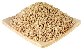 DISH OF PEARL BARLEY CUT OUT royalty free stock images