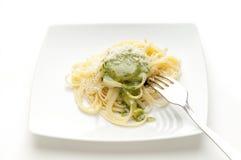 Dish of pesto pasta Stock Photos